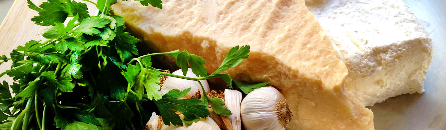 Delicious Italian Cheeses, Garlic and Herbs