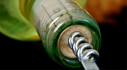 Uncorking Wine Bottle